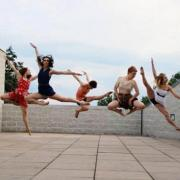 School of Dance students practicing on rooftop
